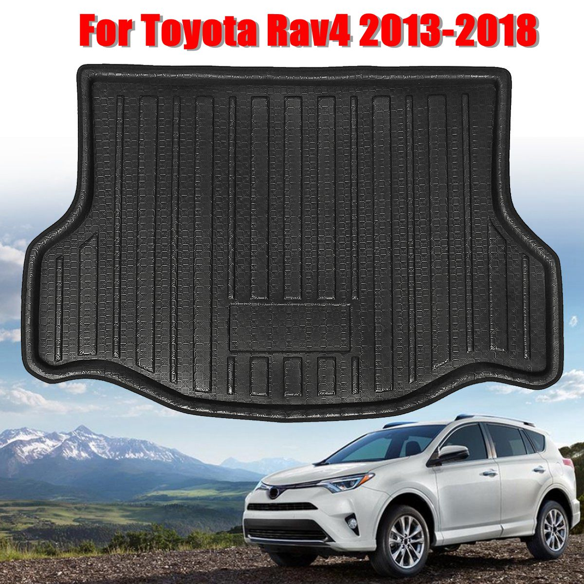 Boot-Liner Trunk Floor-Tray Toyota Rav4 Cargo-Mat Waterproof for Rear High-Quality title=