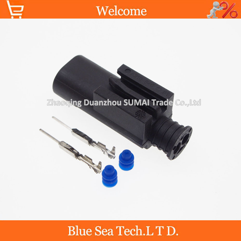 50 sets 2Pin 1 967570 3 1 0mm male part Auto connector water Temp sensor plug