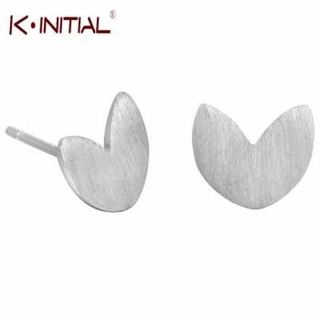 1pair 925 Silver Jewelry Cute Heart Earrings for Women Stud Earring Fashion Jewelry Brincos Best Wedding Statement Jewelry