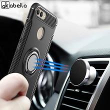 AKABEILA Case For Huawei Nova 2 Cover Finger Ring Car Magnet Matte Protector Nova2 PIC-AL00 Kicksatnd Phone Shell