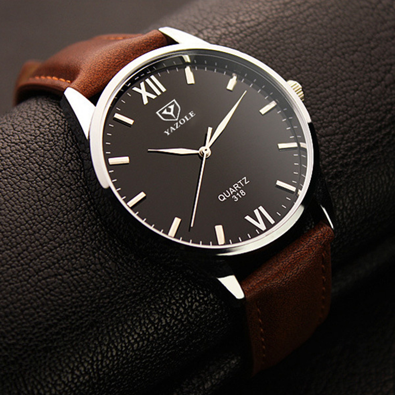 2017 YAZOLE 318 Luminous Watches Men Watch Top Brand Luxury Famous Roman Number Male Clock men sports Watch Fashion Quartz Watch