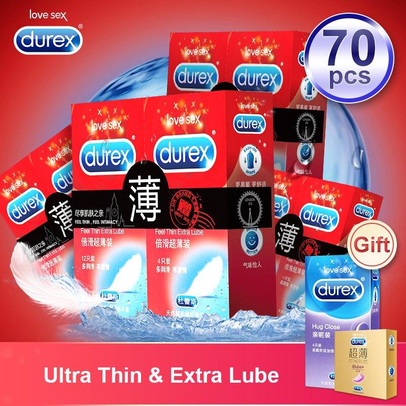 Durex Kondome Fühlen Dünne Extra Lube Kondome Kondom Intimen Waren Erotische Produkte Erwachsene Sex Spielzeug Sicher Hahn-hülse für Männer verzögerung