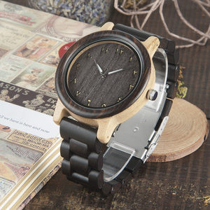 Image 2 - BOBO BIRD WN14N15 Wenge Wooden Watches Eastern Arabic Persian Farsi Numerals Dial Face Watchs Ebony Band Watch for Lovers