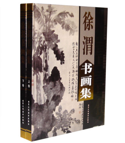 Chinese Painting Brush Ink Art Sumi-e Album Xu Wei Birds Flowers XieYi Book 2pcs chinese painting brush ink art sumi e album qi baoshi shrimp flower xieyi book