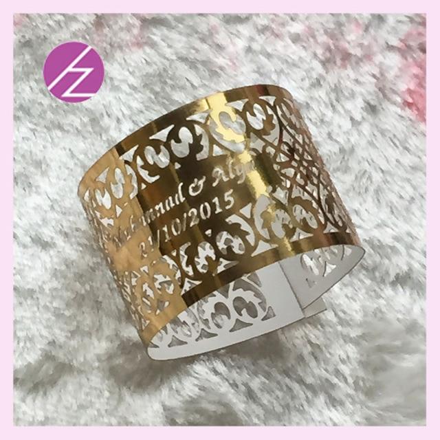 100psc Luxurious Bat Mitzvah Party Decoration Wedding Napkin Rings Serviette Holder Banquet Dinner Decor