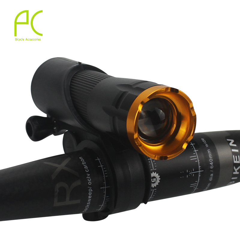 PCycling Bicycle Light Rotate Zoom 3 Mode Q5 LED Chip Bike Light Front Torch Waterproof IPX-5 Flashlight+Holder Mount powerful led flashlight bicycle light 2000 lumens 3 mode cree q5 led bike light front torch waterproof xp 6 torch holder zk93