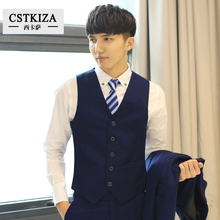 (Jacket + Vest + pants) 2016 sizzling promoting males's enterprise informal fits, three-piece, skilled marriage ceremony costume costume -1 buckle