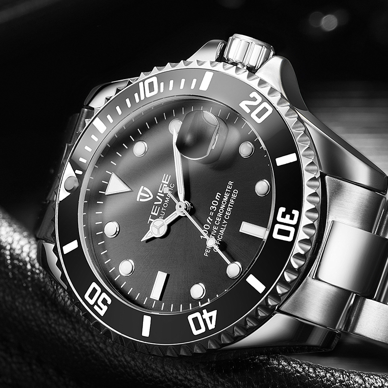 TEVISE Men Watches Diver Waterproof Automatic Self-Winding Top-Brand Relogio Male Masculino