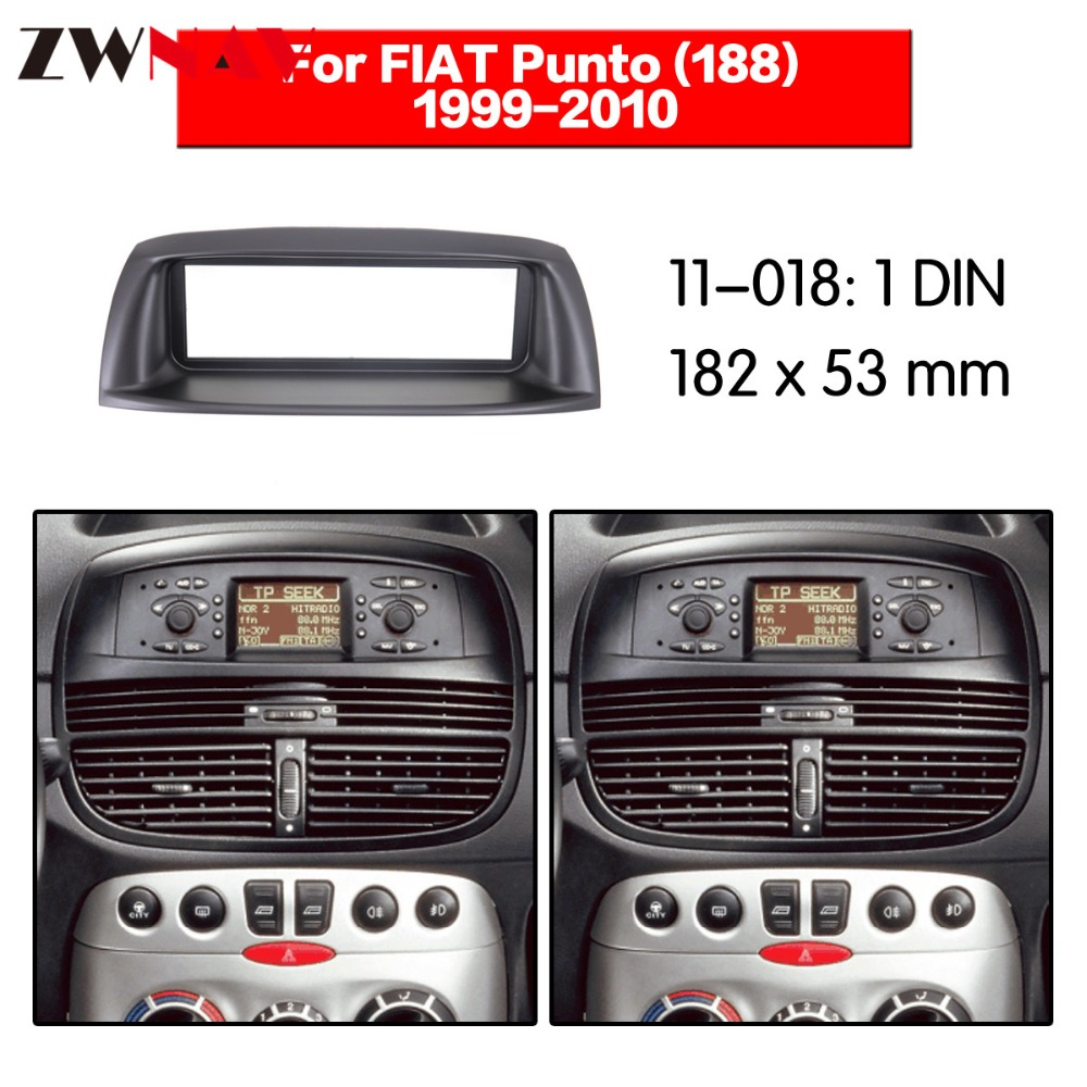 Fiat punto 188 1999-2010 1din 자동 라디오 멀티미디어 navi fascia 용 자동차 dvd 플레이어 프레임