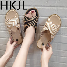 HKJL South Korean version of indoor womens slipper couples cool female personality leisure outdoor beach slippers A306