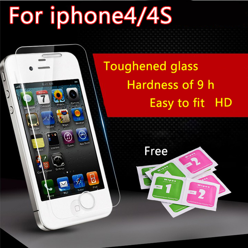 film on para iPhone4 4s Tempered Glass HD Premium Real Film Protector de pantalla para iPhone 4 4s en el cristal protector