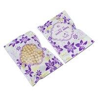 Оптовая продажа пакет с застежкой фиолетовый пластик упаковка мешок чай кофе сумки для хранения Снэк ореховый Органайзер ясно с овальным о
