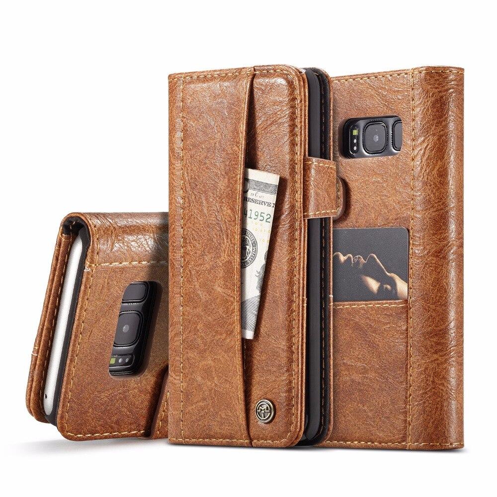 Para Samsung Galaxy S8 Luxo Multifuncional Saco Do Telefone Bolsa de Cartão de Bolso Carteira de Couro Da Tampa do Caso Da Aleta Telefone Conchas Fundas Capa