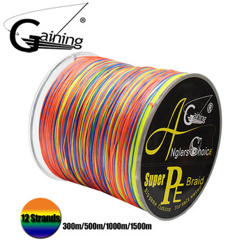 Braided Line 12 Strands 300m/500m/1000m/1500m Multicolor Fishing Super Strong Japan Multifilament 35-180LB PE - discount item  52% OFF Fishing