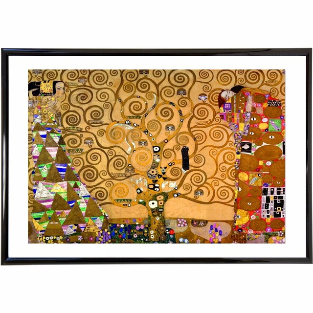 Klimt Tree Of Life Art Painting Canvas Poster Wall Decor Home Room Decoration Silk Fabric Pictures