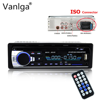 Car Radio JSD520 12V Bluetooth Car Stereo In-dash 1 Din Autoradio FM Aux Input Support Mp3/MP4 USB AUX IN TF Car Radio Player image