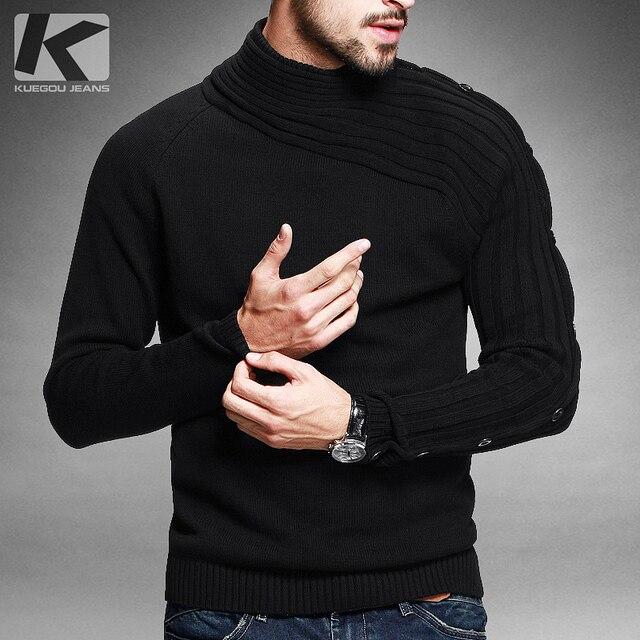 Бесплатная доставка мужская водолазка 100% хлопок пуловер свитер 8401
