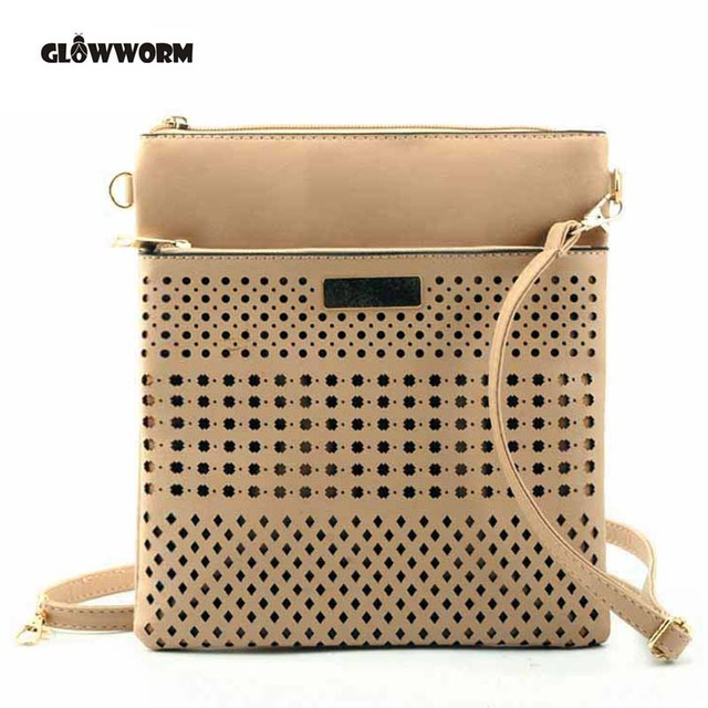 GLOWWORM Hollow Out Women Messenger Bags Ladies Crossbody Bags For Women Casual Clutch Shoulder Bag Dollar Price