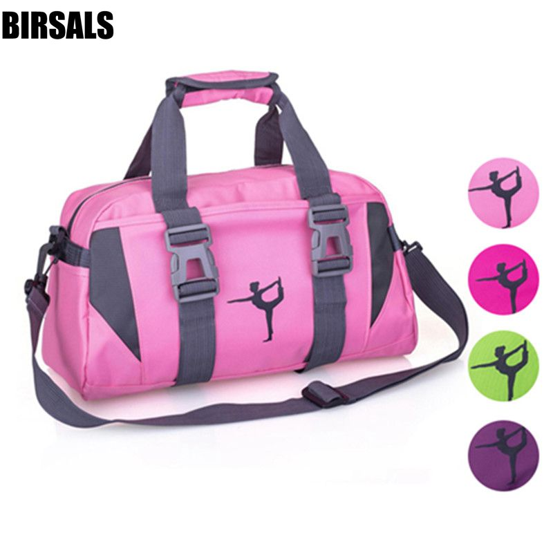 Women Purple Yoga Sports Dance Bag Girls Pink Gym Dancing Bag For Fitness Adult Big Waterproof Handbag Shoulder Dance Bag AS8631
