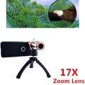 Apexel caliente 17X zoom óptico del telescopio lente para el iPhone 6 más con callos 3-en-1 17X lente + tripod + case para el iPhone 6 más CL-44IP6