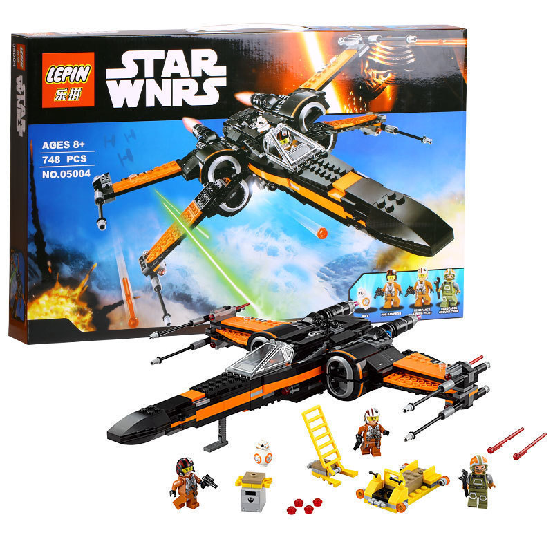 748PCS NEW Star Wars First Order Poe's X-wing Fighter Assembled Toy Building Block dark journey star wars the new jedi order