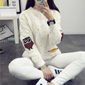 2016 Lovely Colored Owl Printed Women Sweater Autumn Winter Warm Jumpers Pullover High Elastic Christmas Knitted Pullovers