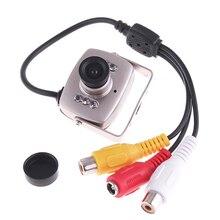 Verysmart 600tvl mini super cor câmera de segurança vídeo áudio indoor câmeras de vigilância 940nm visão noturna infravermelha