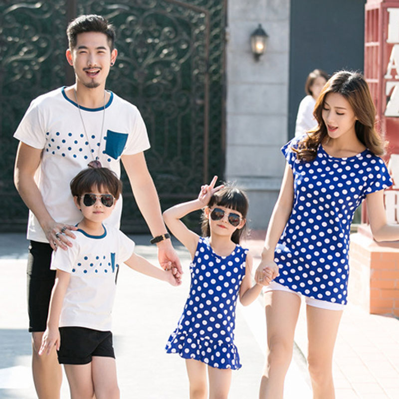 Family Clothing Mother Daughter Dress 2017 Summer Family ...