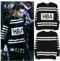 2017 New Hip Hop T Shirt 100% Cotton Big Block Design Tee Shirt Fashion Tshirt Hood By Air Hba Long Sleeve T-shirt Exo Bts