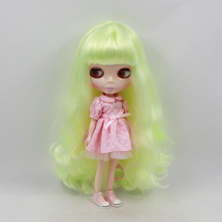 все цены на Blyth doll nude 11.5 fashion dolls Yellow green long hair