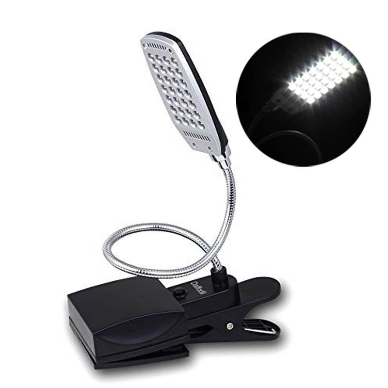 reading lamp with 28 bright led bulbs flexible gooseneck and desk clamp plugs pc macu0027s usb - Gooseneck Lamp