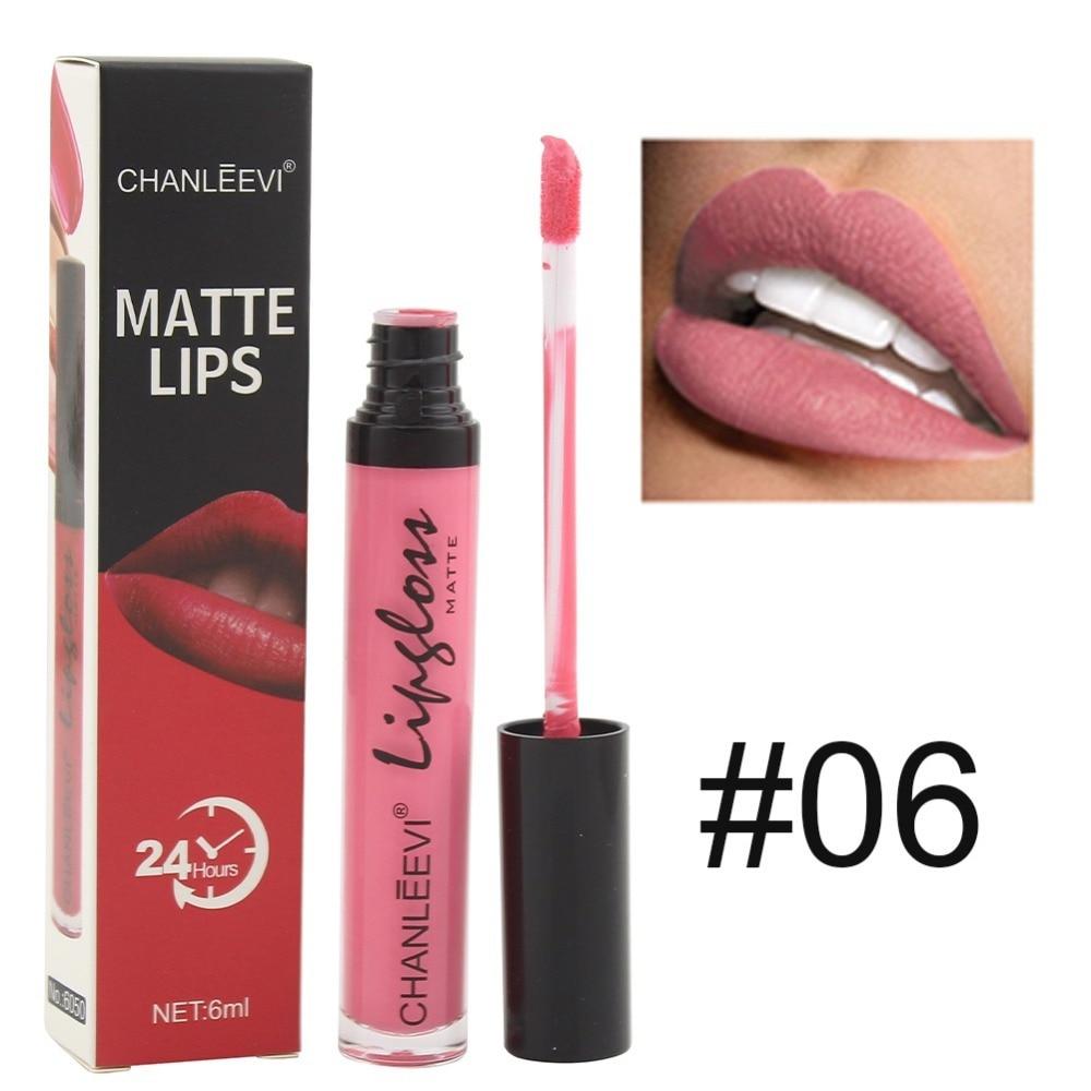 Waterproof Lasting Matter Shimmer Liquid Lipstick Lip GlossMakeup Metallic Colors Matte Lipstick For Women