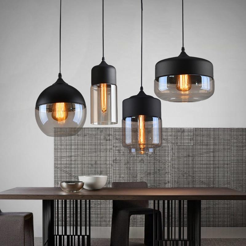 4 estilo contemporâneo moderno pingente de vidro lâmpada luzes luminárias e27 e26 led para cozinha restaurante cafe bar sala estar