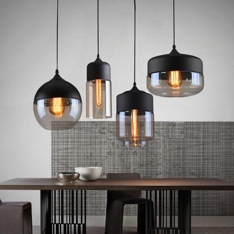 4 Стиль Современный Стекло подвесной светильник светильники e27 e26 светодиодный для Кухня ресторан кафе-бар Гостиная