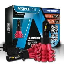 Nighteye H3 Led Автомобилей Лампы 6500 К 10000lm 60 Вт Вождение Автомобиля Авто Свет 12 В Светодиодные Лампы Противотуманные Фары Заменить H3 Ксенон фар