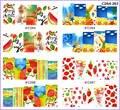 4 embalagens / LOT cobertura completa ABTRACT da praia do verão tatuagens adesivo decalque água NAIL ART C264-267