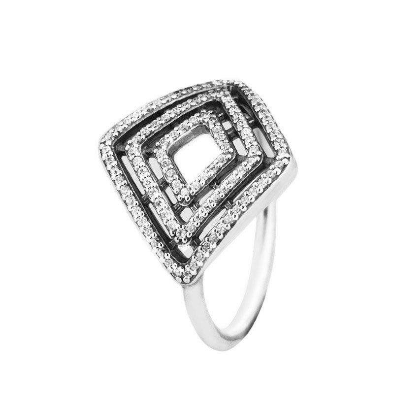 925 Sterling Silver Rings European Style Jewelry Geometric Lines Ring For Women Original Fashion Charms