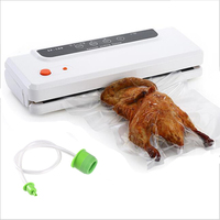 Multi function Vacuum Air Sealing Machine Home Best Vacuum Sealer Fresh Packaging Machine Food Saver Vacuum Packer Bags 150W