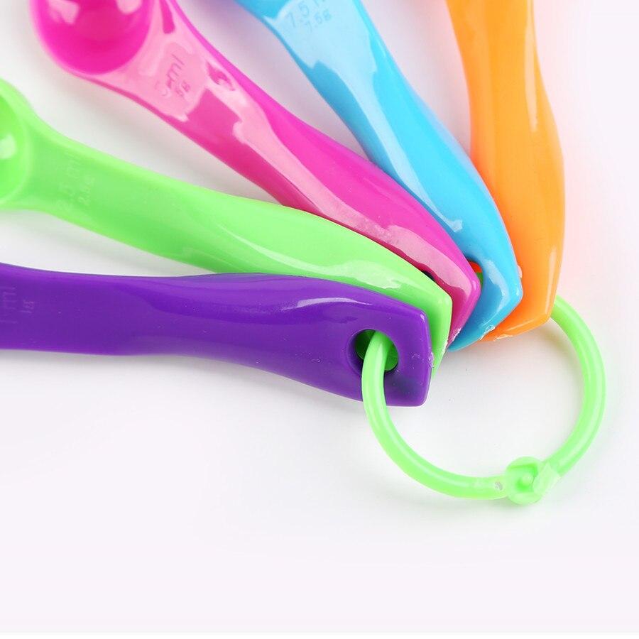 Food grade color 5 sets of measuring spoon plastic suits Five-piece measuring