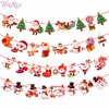 FENGRISE 2M Christmas Banner Santa Claus Wall Hanging Drop Ornaments Snowman Flag Banner for Christmas Decorations New Year 2018