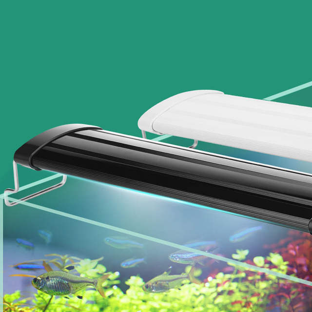Us 14 02 Aquarium Led Lighting 21 45cm High Quality Fish Tank Light Lamp With Extendable Brackets White And Blue Leds Fits For In Lightings