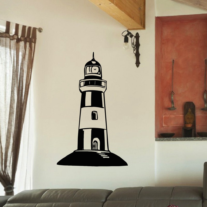 Large Mediterranean Wall Decor : Large lighthouse wall stickers decal