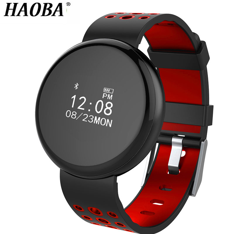 HAOBA Waterproof IP68 Smart Bracelet Heart Rate Blood Pressure Sleep Monitoring Pedometer Fitness Bluetooth Wristband цены онлайн