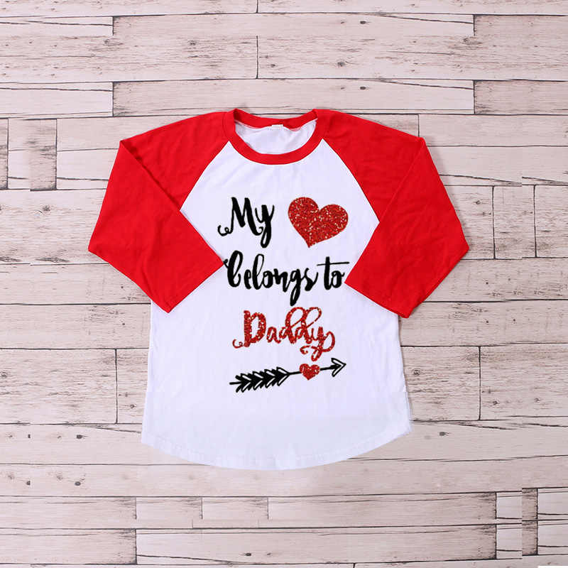 b85585b42be Kaiya Angel Christmas Valentine s Kids Icing Raglans Top T shirt Girl Ruffle  Raglan Girl Clothes Fall