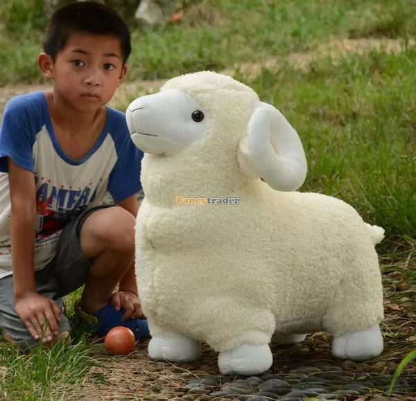 Fancytrader 35'' / 90cm Lovely Giant Stuffed Soft Plush Animal Sheep Toy, 2 Colors Available, Free Shipping FT50529 original meanwell asp 150 15 single output 15v 9 5a 150w pf 0 95 pcb type mean well asp 150 with pfc function