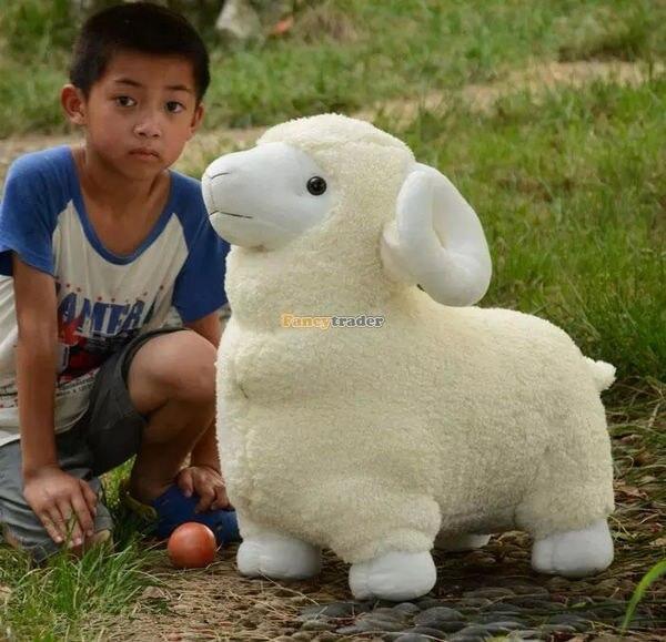 Fancytrader 35 ''/90 cm Belle Géant En Peluche Doux En Peluche Animaux Moutons Jouet, 2 Couleurs Disponibles, livraison Gratuite FT50529