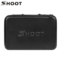 SHOOT Large Protable PU Waterproof Carrying Case For GoPro Hero 6 5 4 3 SJCAM Xiaomi