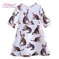 Pettigirl últimas chicas vestidos de gatos impresión diaria vestido hija ocasional boutique de ropa de bebé de la manera traje g-dmgd908-864