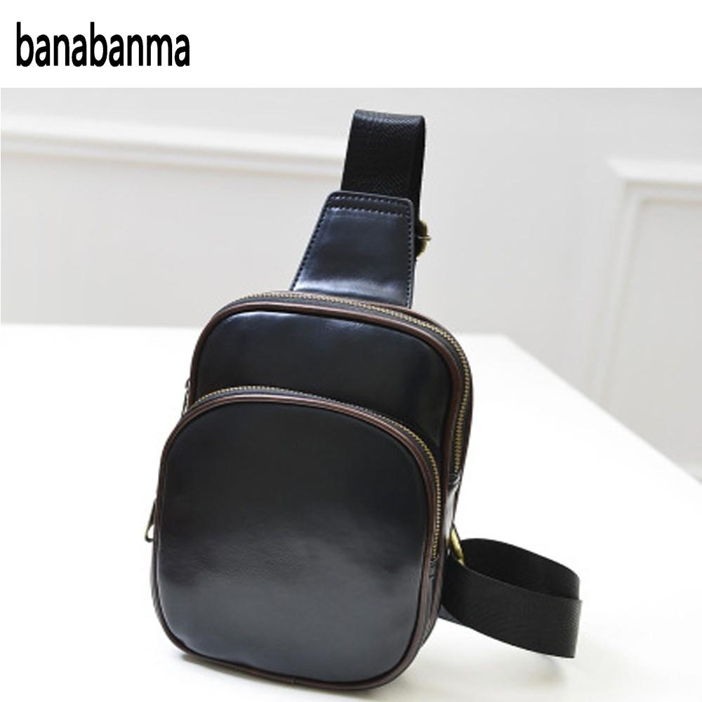 banabanma Multifunctional Men Casual PU Leather Shoulder