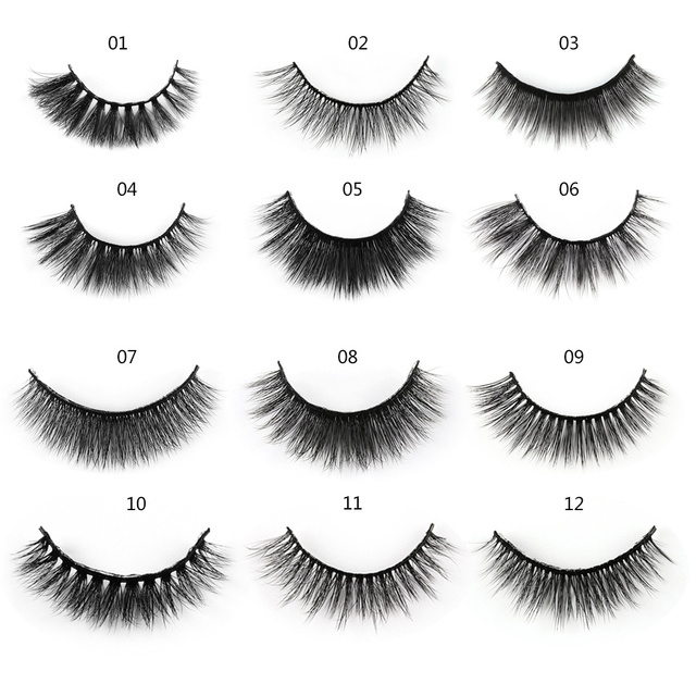5 Pairs 3D Mink Hair Natural Cross False Eyelashes Long Messy Makeup  Fake Eye Lashes Extension Make Up Beauty Tools maquiagem 3